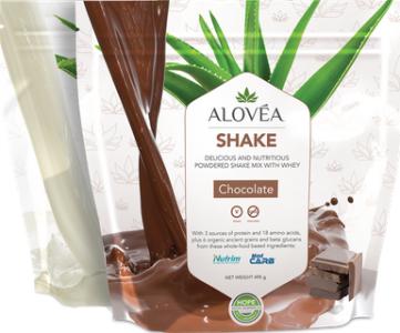 aloveia shake vanilla and chocolate