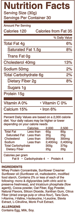 engage global protein daily chocolate